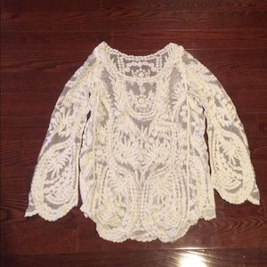 Sheer Lace Top*